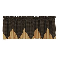 August Grove Millicent Plaid Layered Lined Curtain Valance