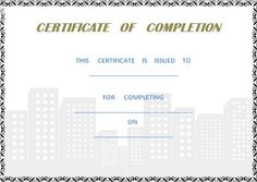 Building Completion Certificate Sample Interesting Project_Completion_Certificate_Template  Certificate Of Completion .