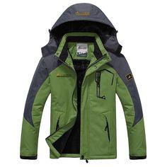 New Winter Jacket Men Thick Velvet Warm Coat Thermal Warm Windproof Hood Jackets Men's Outwear Parka Homme Jaqueta Casual Coats Men's Coats And Jackets, Winter Jackets, Fur Coats, T-shirt Und Jeans, Warm Coat, Winter Coat, Courses, Trekking, Men Coat