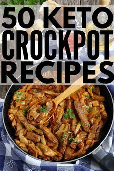 Were sharing 50 low carb ketogenic diet approved easy dinners you can make in your crock pot! Whether you prefer chicken beef pork ground turkey roasts soups chilisweve got delicious and healthy keto recipes to add to Keto Crockpot Recipes, Ketogenic Recipes, Slow Cooker Recipes, Low Carb Recipes, Diet Recipes, Crockpot Low Carb Meals, Healthy Meals, Quick Keto Meals, Cake Recipes