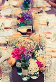 Decoración de boda vintage en el campo #weddingdecoration #decoracionbodas #tendenciasdebodas