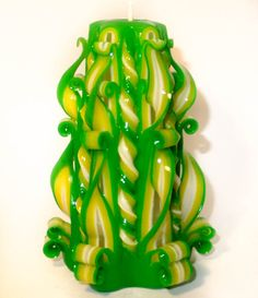 Hand Made Carved Candle by LumiereDeTrace on Etsy