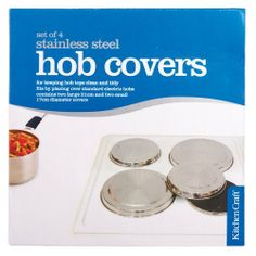 Kitchen Craft Set of Four Stainless Steel Hob Covers by Kitchen Craft. $17.99. 2 large covers. 2 small covers. stainless steel. set of 4 standard hob covers