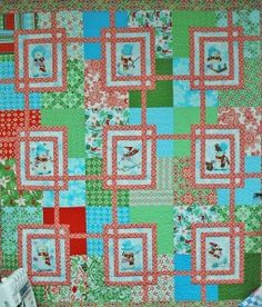 quilt- maybe with solid background instead of patchwork
