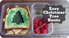 Easy Christmas Tree Bento for your kids school lunch! Video tutorial included!