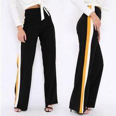 3e63c98e731d2 Fashion New Women Loose High Waist Wide Leg Pant Ladies Stylish  Casualrricdress Palazzo Pants Plus Size