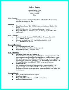 nice writing your qualifications in cnc machinist resume a must - Cnc Machinist Resume Samples