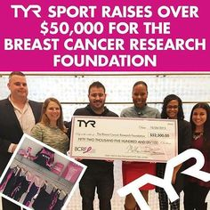 TYR Sport raises over $50,000 for BCRF! Read more on the news & events section of TYR.com!