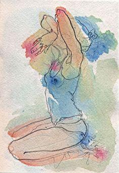 by Adara Sanchez Figure Painting, Figure Drawing, Painting & Drawing, Life Drawing, Art Sketches, Art Drawings, Art Graphique, Art Plastique, Erotic Art