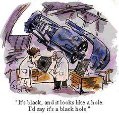 Black hole. Cartoon by S. Harris.