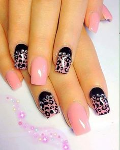 Beautiful nail art designs that are just too cute to resist. It's time to try out something new with your nail art. Nail Art Designs 2016, Simple Nail Art Designs, Easy Nail Art, Cheetah Nails, Pink Acrylic Nails, Pink Nails, Acrylic Gel, Black Nails, Fabulous Nails