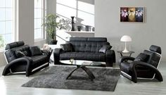 24 Beautiful Family Room Furniture Design for a Comfortable Place Black Leather Sofa Living Room, Black And White Living Room, Black Leather Sofas, Best Living Room Design, Living Room Colors, Living Room Sofa, Living Room Designs, Dining Room, Living Area