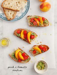 peach & tomato crostini / @loveandlemons