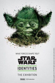 Cartazes de exposição sobre Star Wars...A identidade de cada personagem está nas imagens que compôem o perfil