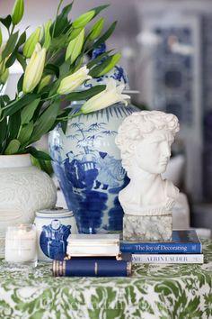~Verandah House Interiors | Blue, White, Green