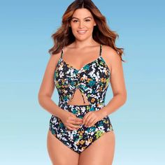 Honeymoon Outfits, Cut Out One Piece, Modest Swimsuits, Spandex Material, Fitness Fashion, One Piece Swimsuit, Perfect Fit, Target, Floral Prints