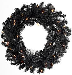 Black Christmas (Or Halloween) wreath from Pier1.com $29.00