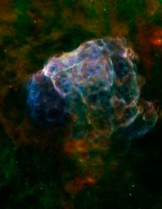 Driven by the explosion of a massive star, supernova remnant Puppis A is blasting into the surrounding interstellar medium about 7,000 light-years away
