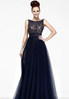 Stunning Chiffon A line Beaded Long Prom Dress With Bowknot