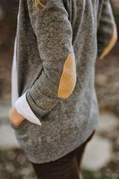 Elbow Patch Grey Blazer