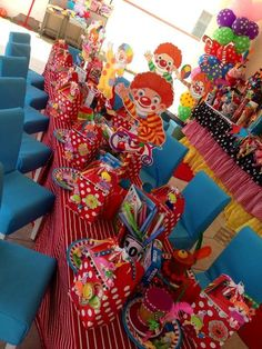 Table at a Circus Birthday Party!  See more party ideas at CatchMyParty.com!