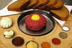Czech Traditional Food At Restaurants. What to eat, what is it. Non meat meals. Tatar Sauce, Steak Tartare, Open Faced Sandwich, Czech Recipes, Cheese Fries, Slice Of Bread, Meat Recipes, Meat Meals, Recipies