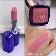 Rimmel Moisture Renew Lipstick in Pink Chic. Follow my instagram @mellyfmakeup