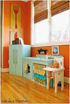 Kids kitchen...future playroom.