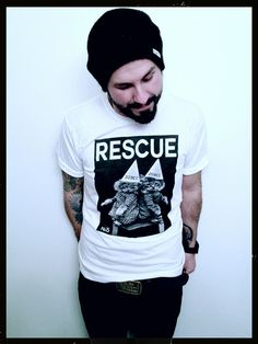 Dunce Cat T-Shirt - Re5cue Clothing - Designer Spotlight Uncovet