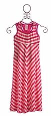 Plum Maxi Dress Fuchsia Stripe