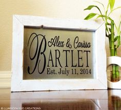 Personalized Family Name Sign Family by LumberwaveCreations