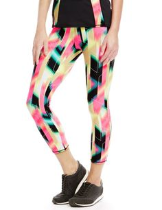 Flash Print Cropped Leggings with Cool Comfort™ Technology   M&