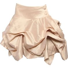 Lucie Skirt in Nude ($32) ❤ liked on Polyvore