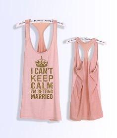 If you want to keep calm (and stay happy), up your endorphins and release stress with a workout! Any glitz-loving lady will appreciate this I Can't Keep Calm top ($27) with a feminine, flowing back.