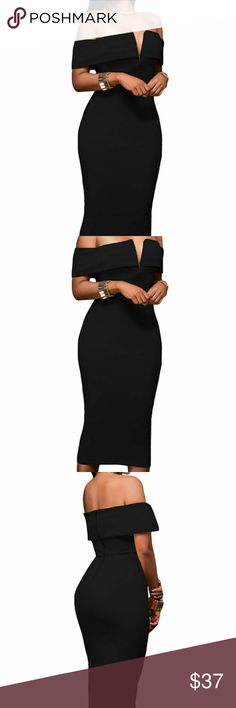 Holiday Dress A black Classy chic dress. Perfect for holiday party, wedding, date night, etc... very flattering. Definitely a dress everyone be needs to have in their closet. Dress rubs true to size. Dresses