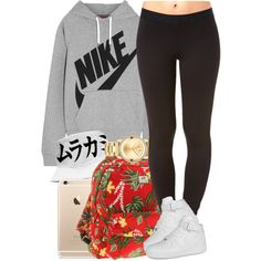 Nike x Japanese by livelifefreelyy on Polyvore featuring NIKE, Forever 21, Vans and Movado