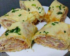 Rocambole Salgado - presunto, queijo e legumes