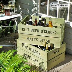 personalised crate - drinks storage box by plantabox | notonthehighstreet.com