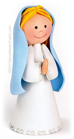 Virgen maria en foamy