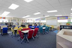 Franklin Elementary School Library Addition  (the bright chairs look comfortable!)