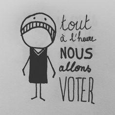 Illustration  Humeur du moment en attendant les résultats des élections présidentielles 2017