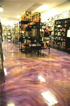 Liquid Dazzle Epoxy Flooring for Concrete Floors. This is amazing! Love it for the family room down stairs.