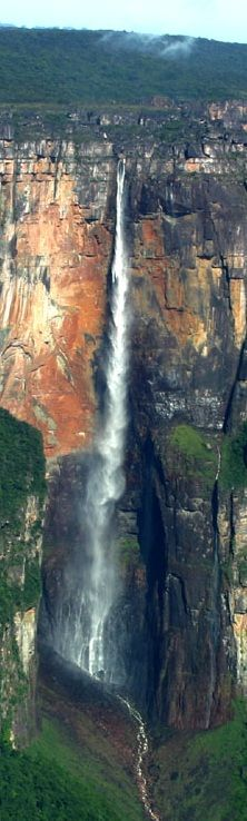 Angel Falls, Venezuela is a UNESCO World Heritage site in the Gran Sabana region of Bolívar State.s It is the world's highest uninterrupted waterfall, with a height of 979 m ft) and a plunge of 807 m ft). Angel Falls, Beautiful Waterfalls, Beautiful Landscapes, Places To Travel, Places To See, Places Around The World, Around The Worlds, Beautiful World, Beautiful Places