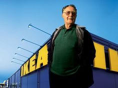Famous: Ingvar Kamprad, founder of IKEA, is well-known in Sweden for making the company a global household name