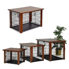 Turn your dog crate into a table.. Might as well, it pretty much already is.. haha