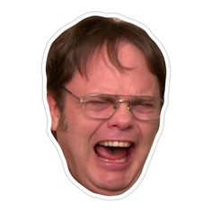 'The Office – Dwight Crying' Sticker by Ben Jackson Meme Stickers, Snapchat Stickers, Tumblr Stickers, Phone Stickers, Diy Stickers, Printable Stickers, Sticker Ideas, The Office Valentines, The Office Stickers