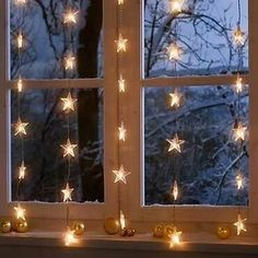 Pretty dangling star lights - I want these!