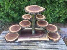 Large Log Elm Wood Rustic Cake 90 Cupcakes Pie Stand Wedding party shower wooden 7 tier Collapsible, lumberjack party, wild things are, boho Lumberjack Party, Wood Logs, Rustic Cake, Rustic Wood, Diy Holz, Wood Slices, Walnut Wood, Rustic Wedding, Wedding Country