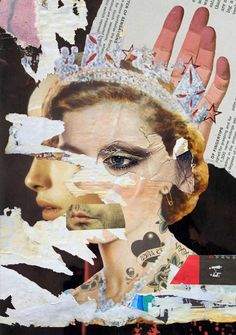 Collage THE QUEEN 2013 Waldemar Strempler Tumblr