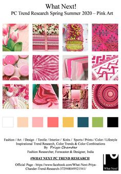 colour trend Pink art for Spring Summer 2020 collection Fashion Colours, Pink Fashion, Colorful Fashion, Fashion Prints, Fashion Art, 2020 Fashion Trends, Spring Fashion Trends, Trends 2018, Fashion 2018
